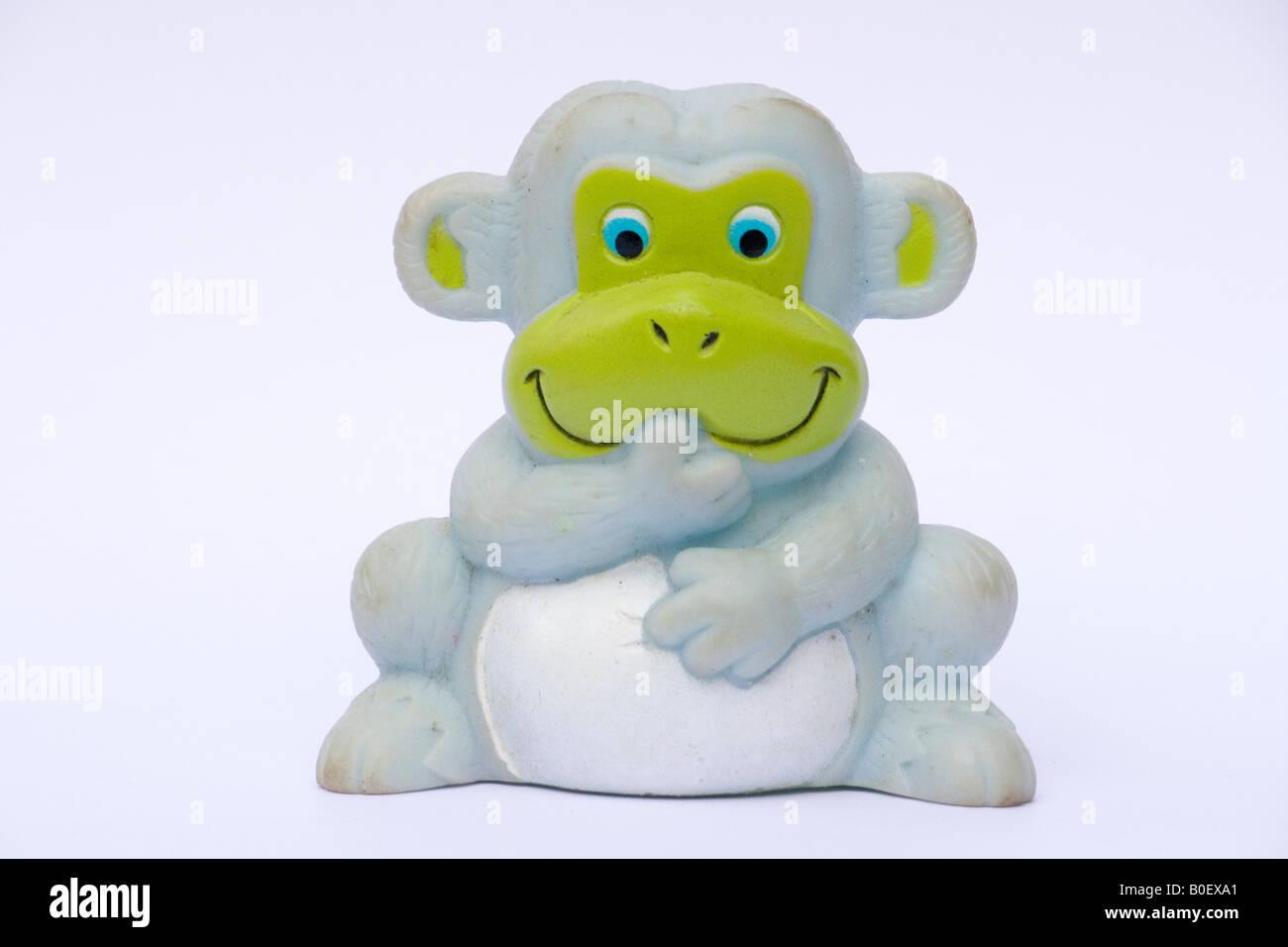 Baby toy monkey - Stock Image