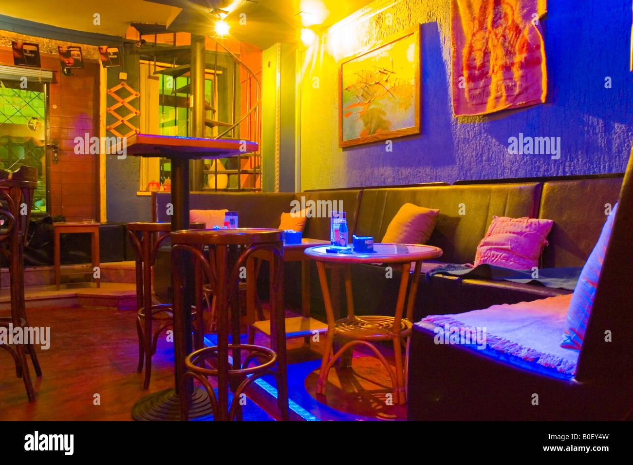 Bar in the old town quarter of Split Croatia Europe - Stock Image