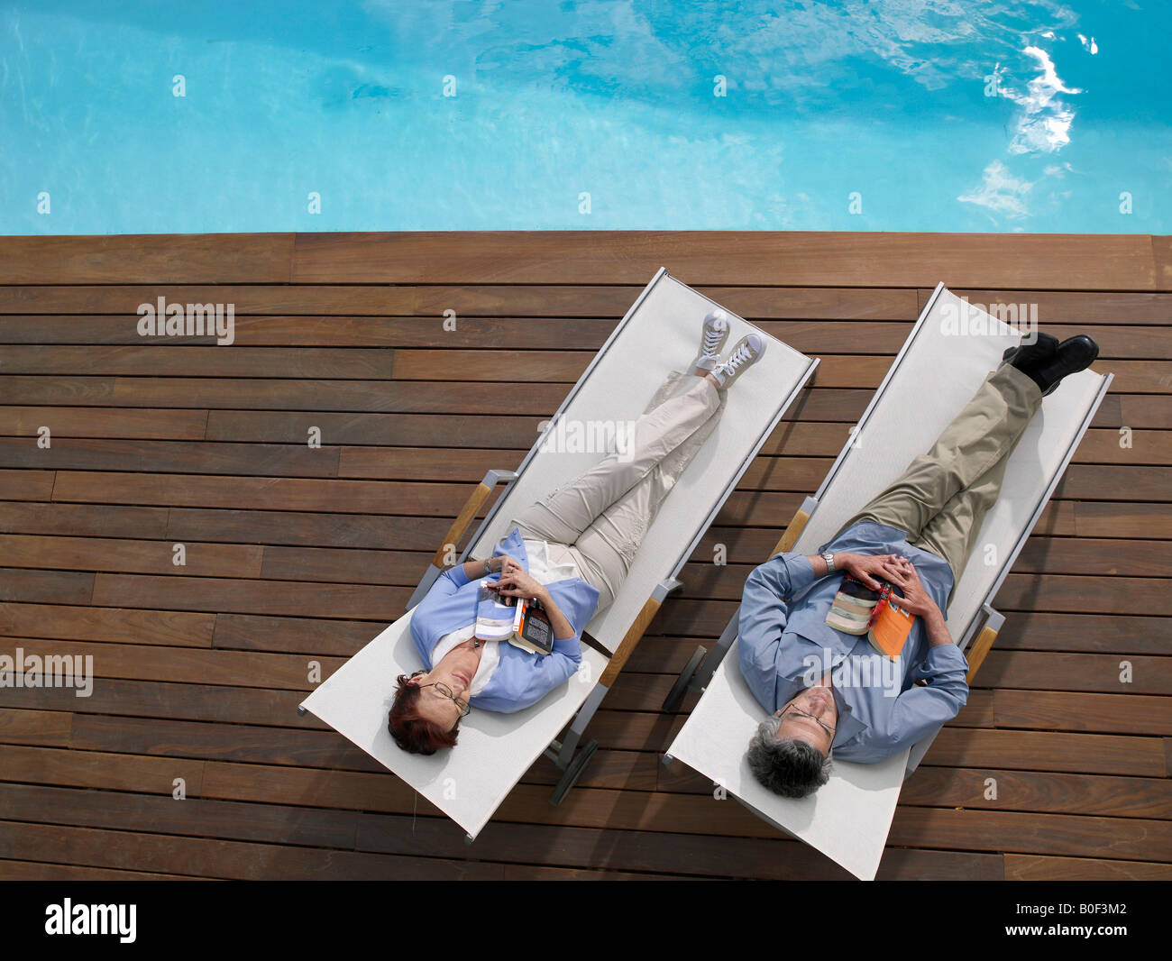 Mature couple relaxing Stock Photo
