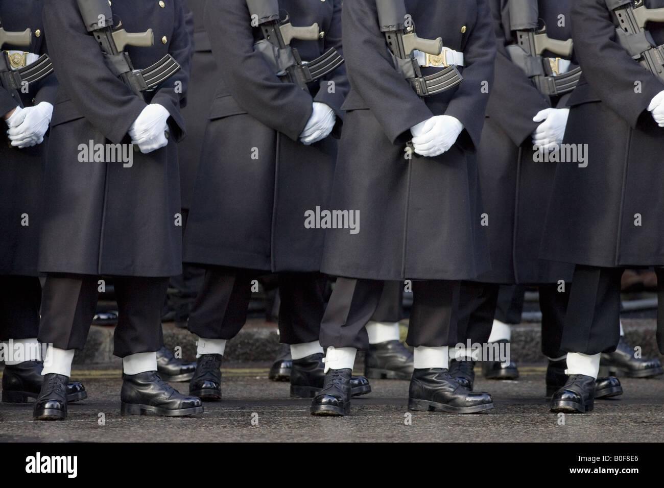 Guards at the Cenotaph London England United Kingdom Stock Photo