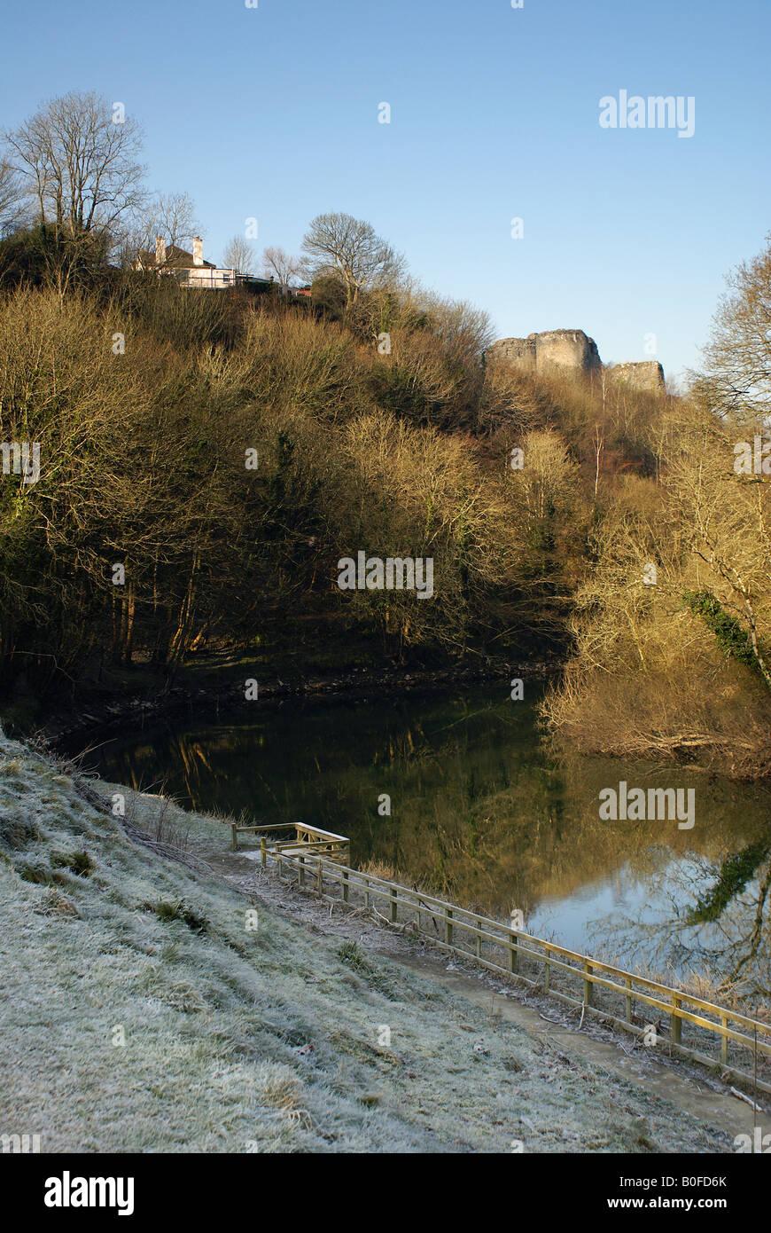 Cilgerran Castle in West Wales - Stock Image