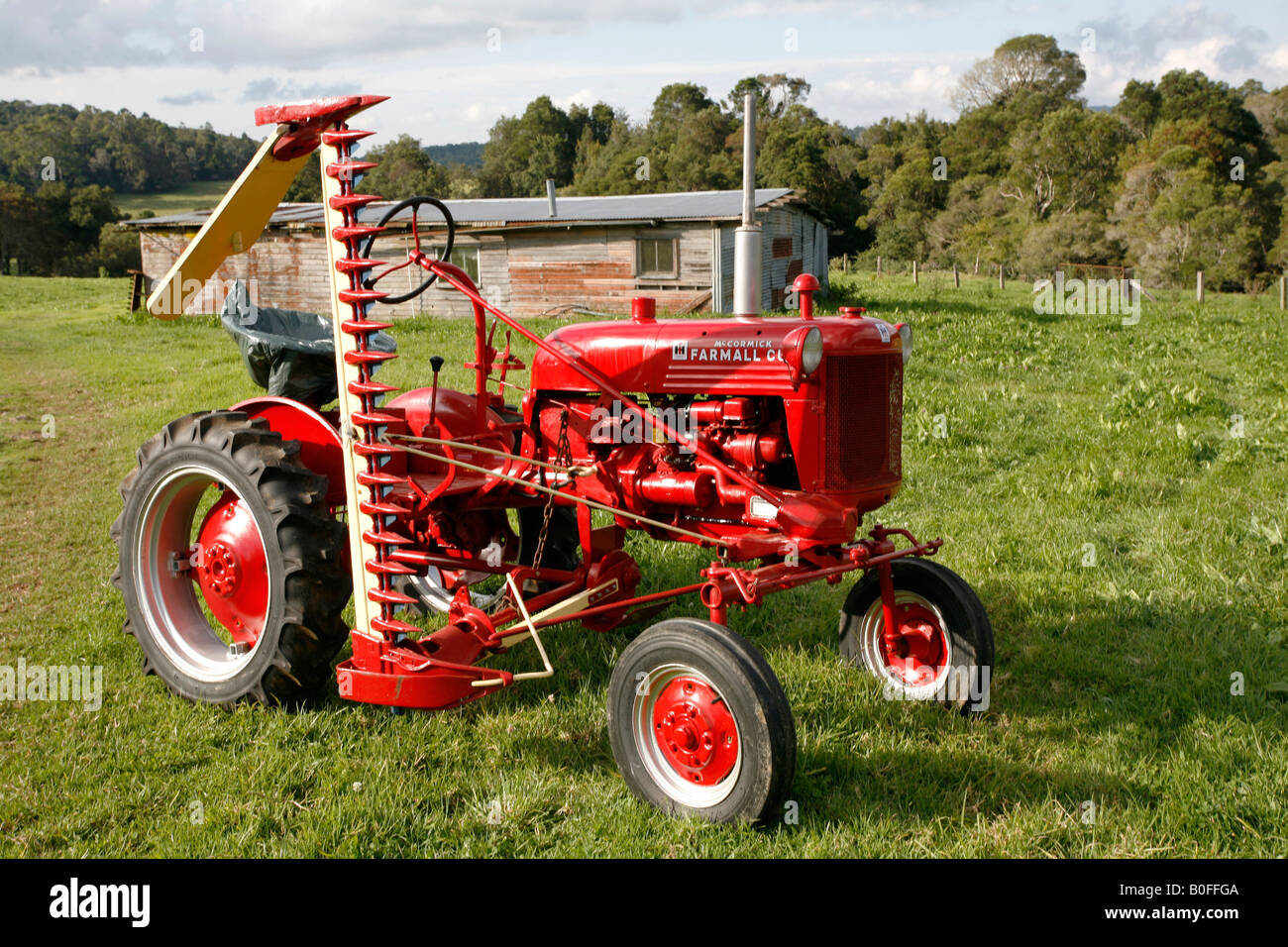Antique Ih Cub Tractor : Antique international farmall cub tractor with a