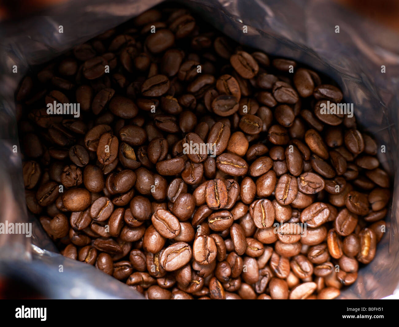bag of coffee beens - Stock Image
