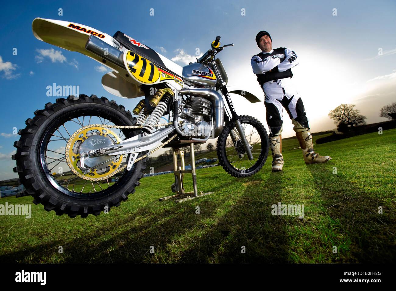 Twin Shock Vintage Motocross Vintage Rider Mx Dirt Muddy