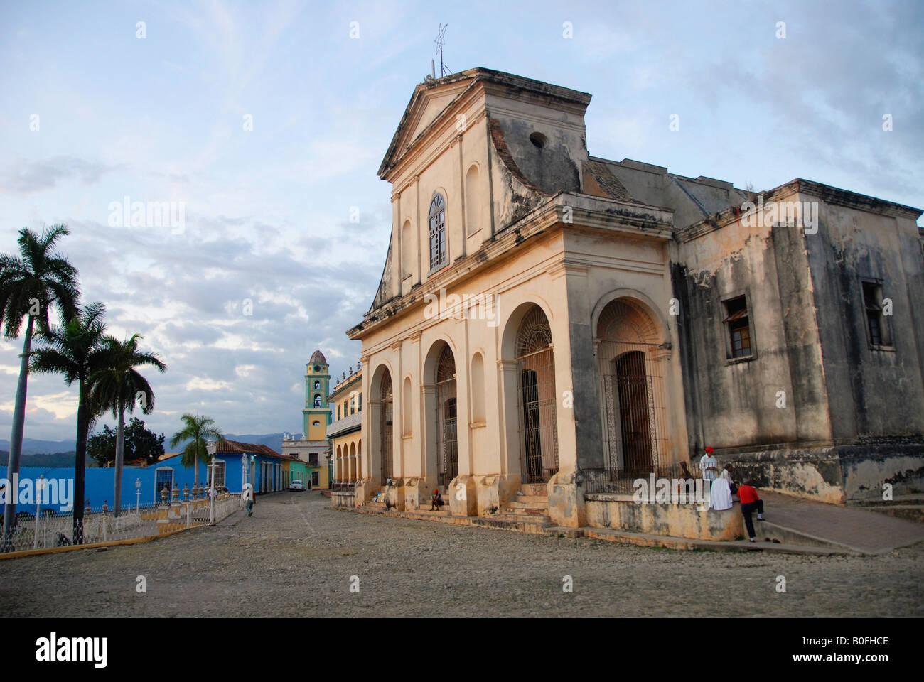 Iglesia Parroquial de la Santisima Trinidad Plaza Mayor Trinidad Cuba - Stock Image