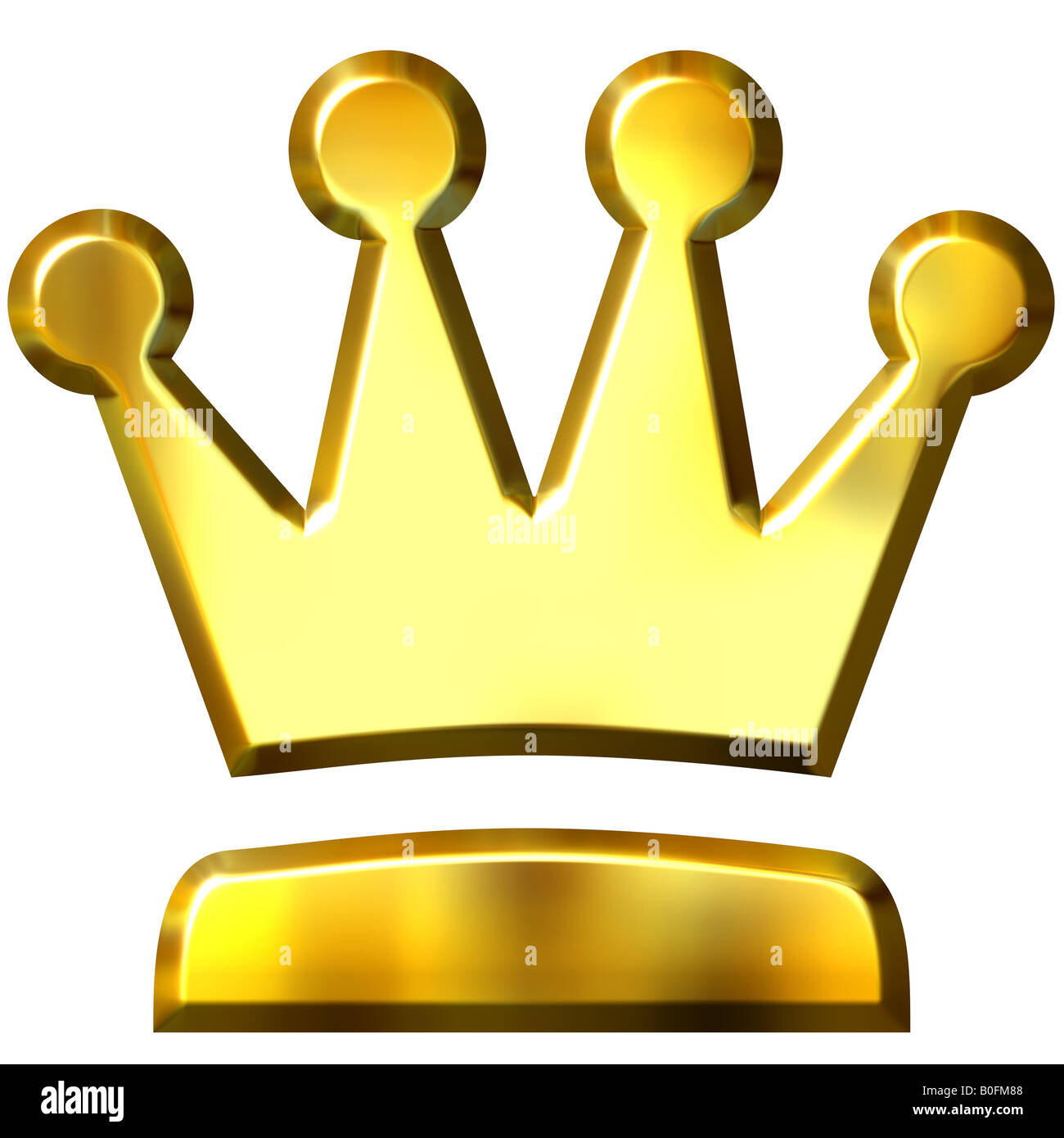 3D Golden Crown - Stock Image