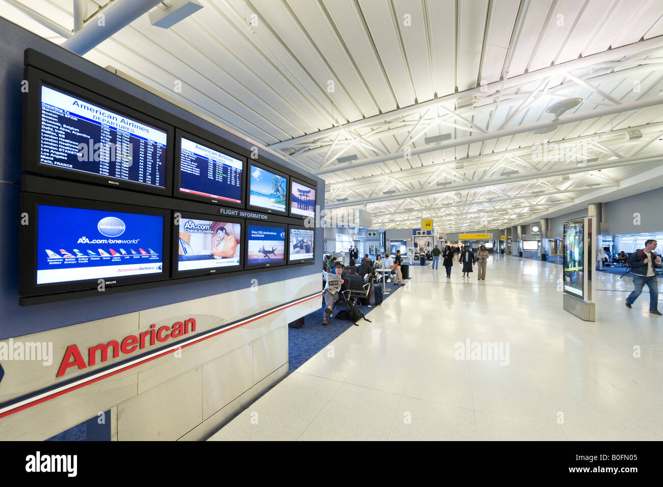 Departure Information Screens In American Airlines