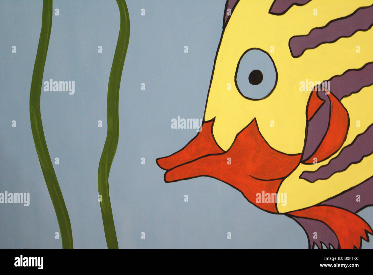 drawing of colorful clipart fish with orange lips Stock Photo ...