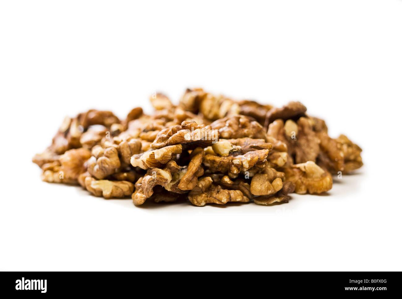 Pile of Walnut kernels - Stock Image