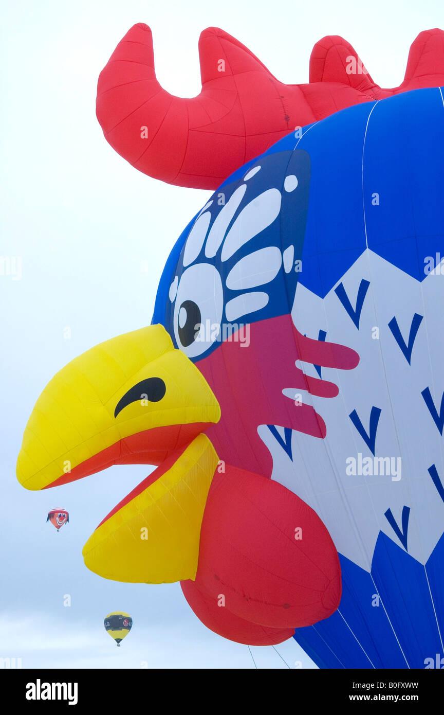 International Hotair Ballon Festival in Chateau d'Oex Vaud Switzerland Stock Photo