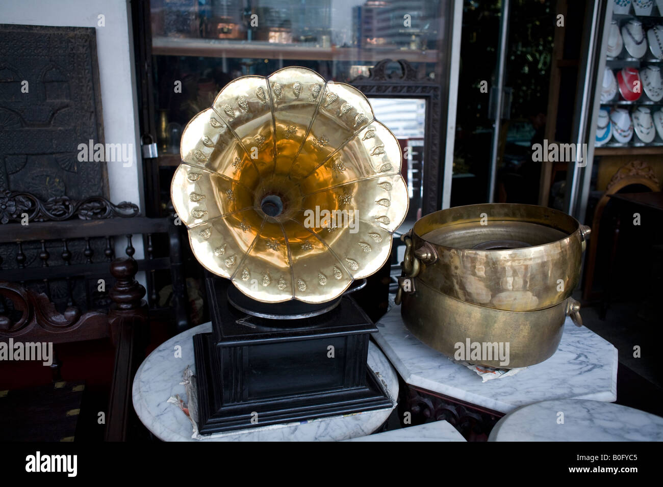 An Old Gramophone For Sale At Antique Store In Dhaka Stock