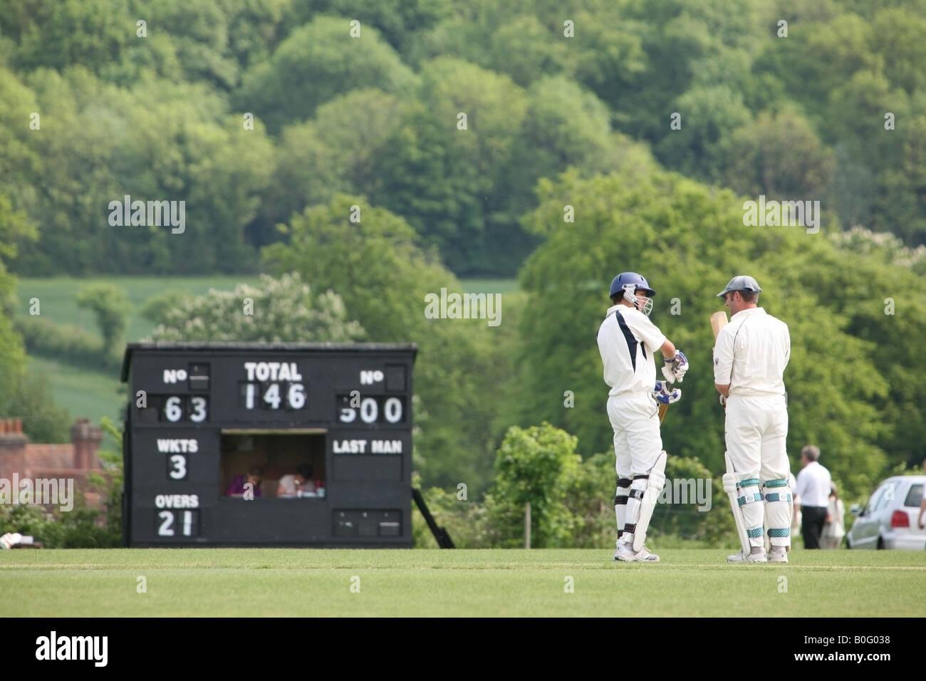 The modern Hambledon Cricket Club's ground in Ridge Meadow