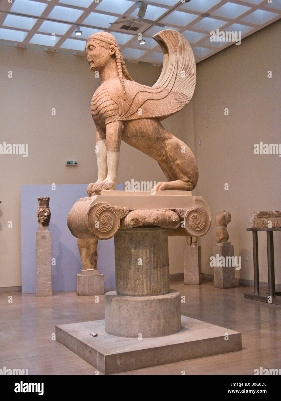 The Naxos Sphinx, Delphi Museum, Greece Stock Photo