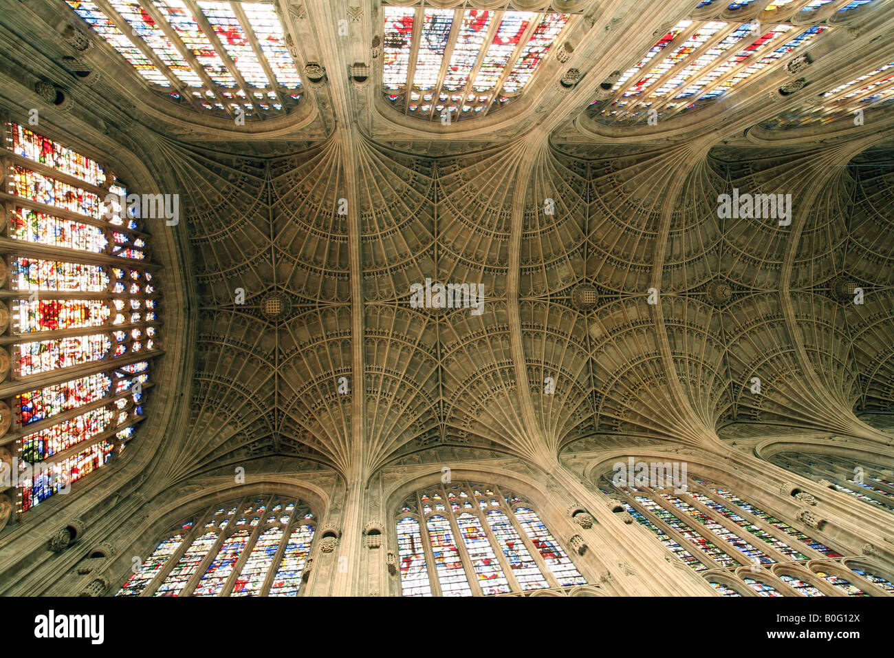 The ceiling, Kings College Chapel, Cambridge England Stock Photo