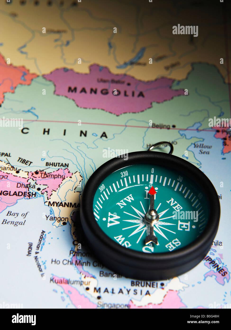 China Map Compass Stock Photos Amp China Map Compass Stock