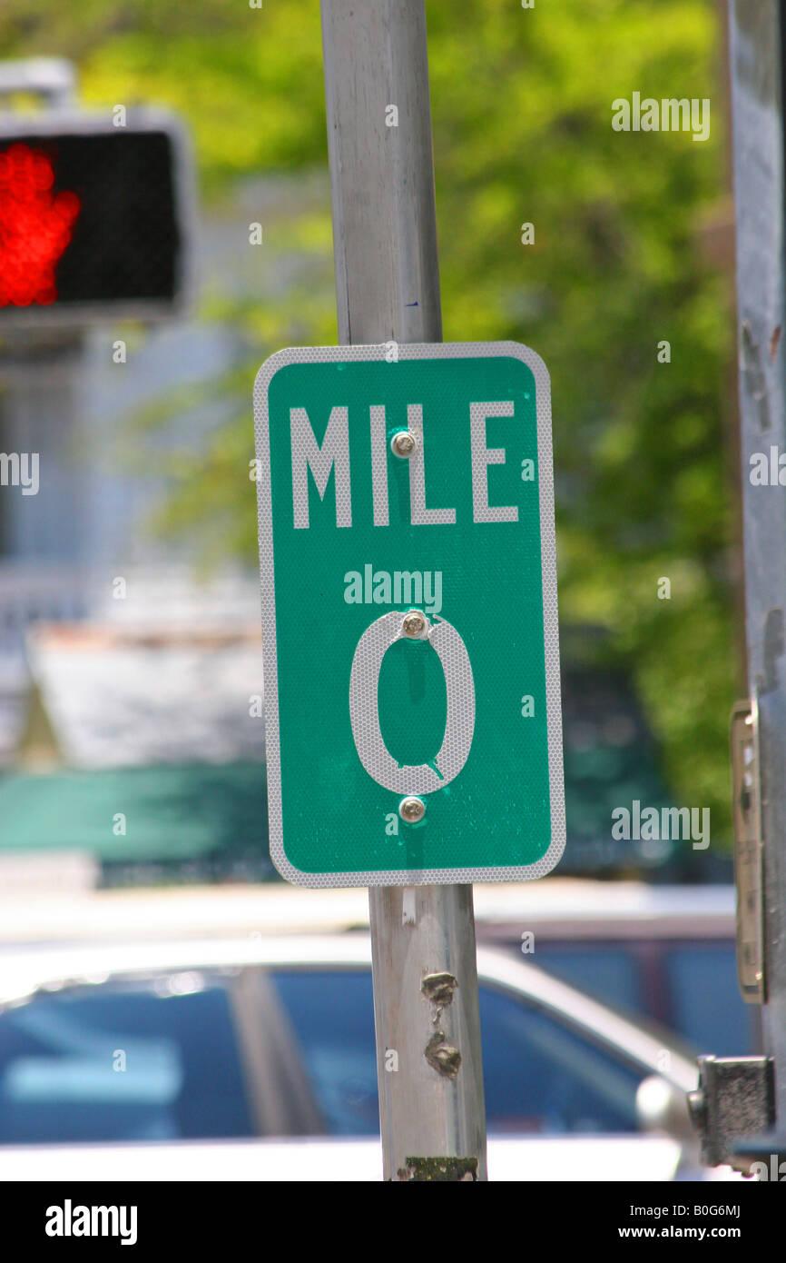 Key west mile marker zero