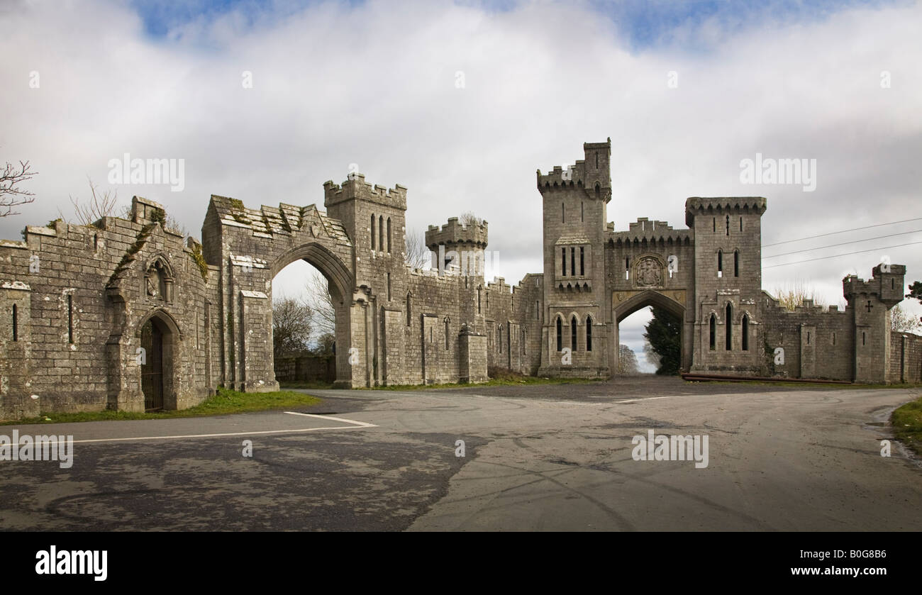 Ducketts Grove Gate Lodge, Carlow Ireland Stock Photo ...