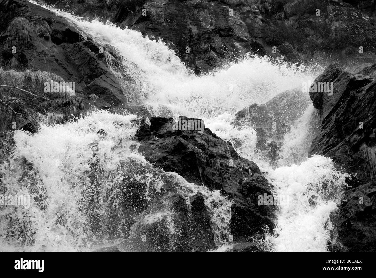 Flows meet - Stock Image