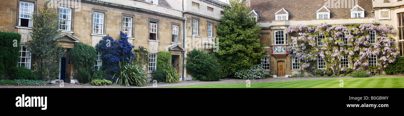 Christ's College: First Court: Master's Lodge. Cambridge. - Stock Image