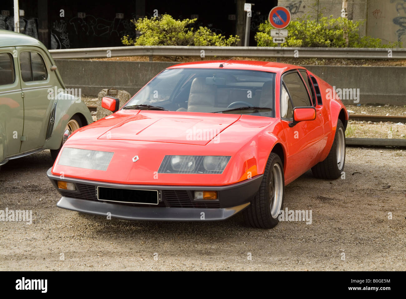 Renault Alpine Sports Car Classic Low Swoopy Sleak French France Stock Photo Alamy