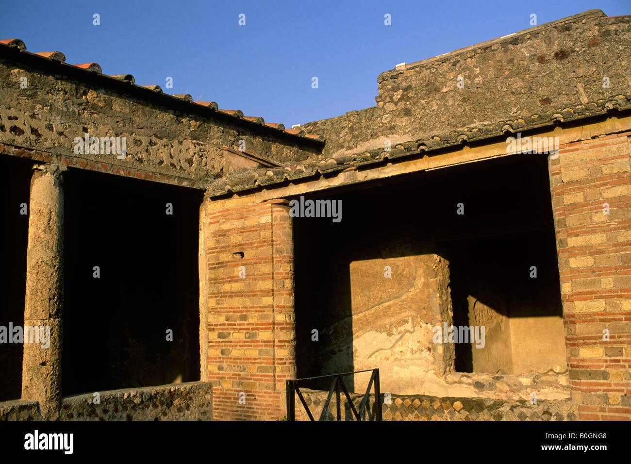 italy, campania, pompeii, villa dei misteri - Stock Image