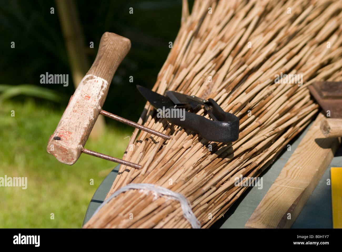 Thatching tools - Stock Image