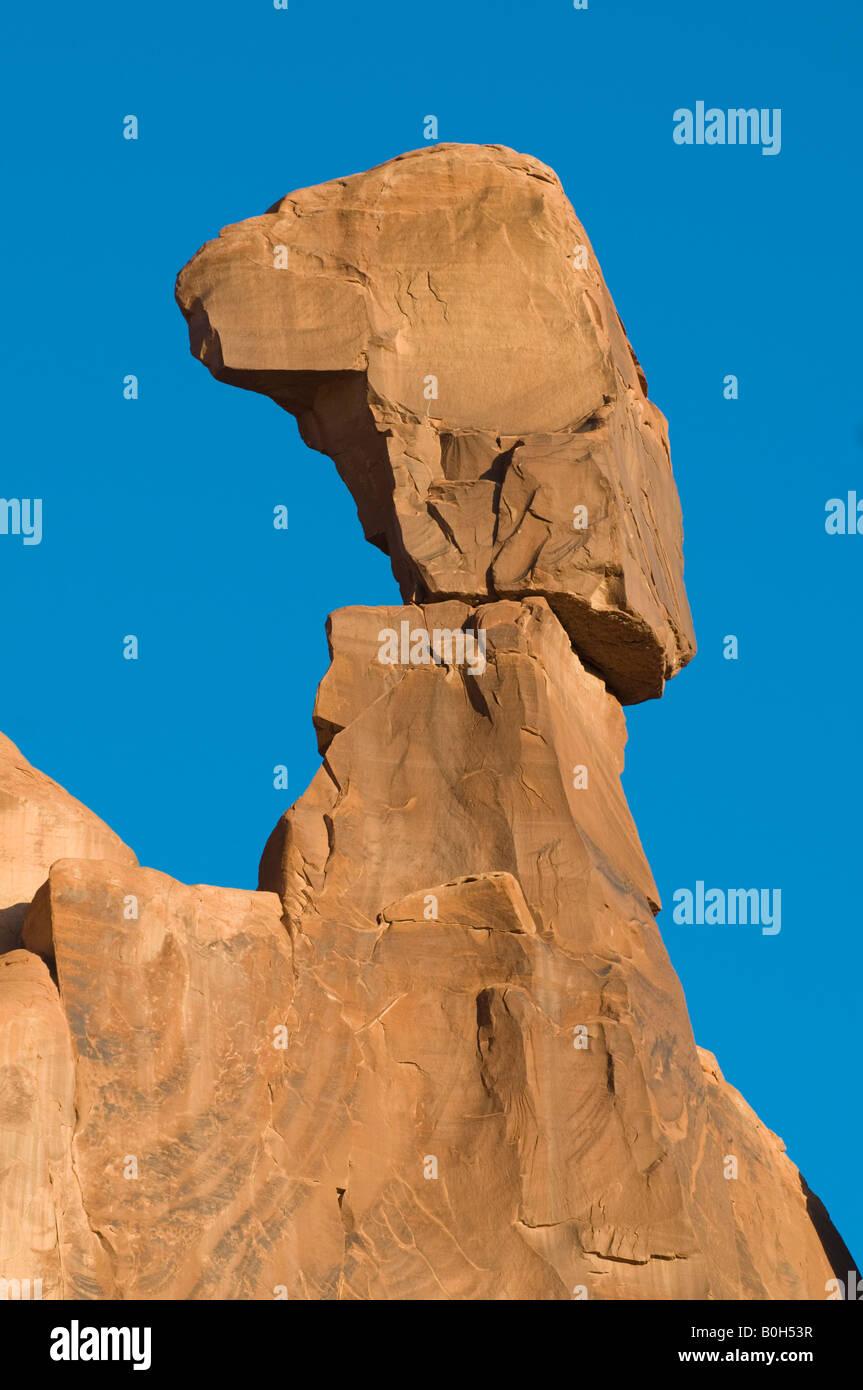 Balanced Rock Nefertiti Arches National Park Utah - Stock Image