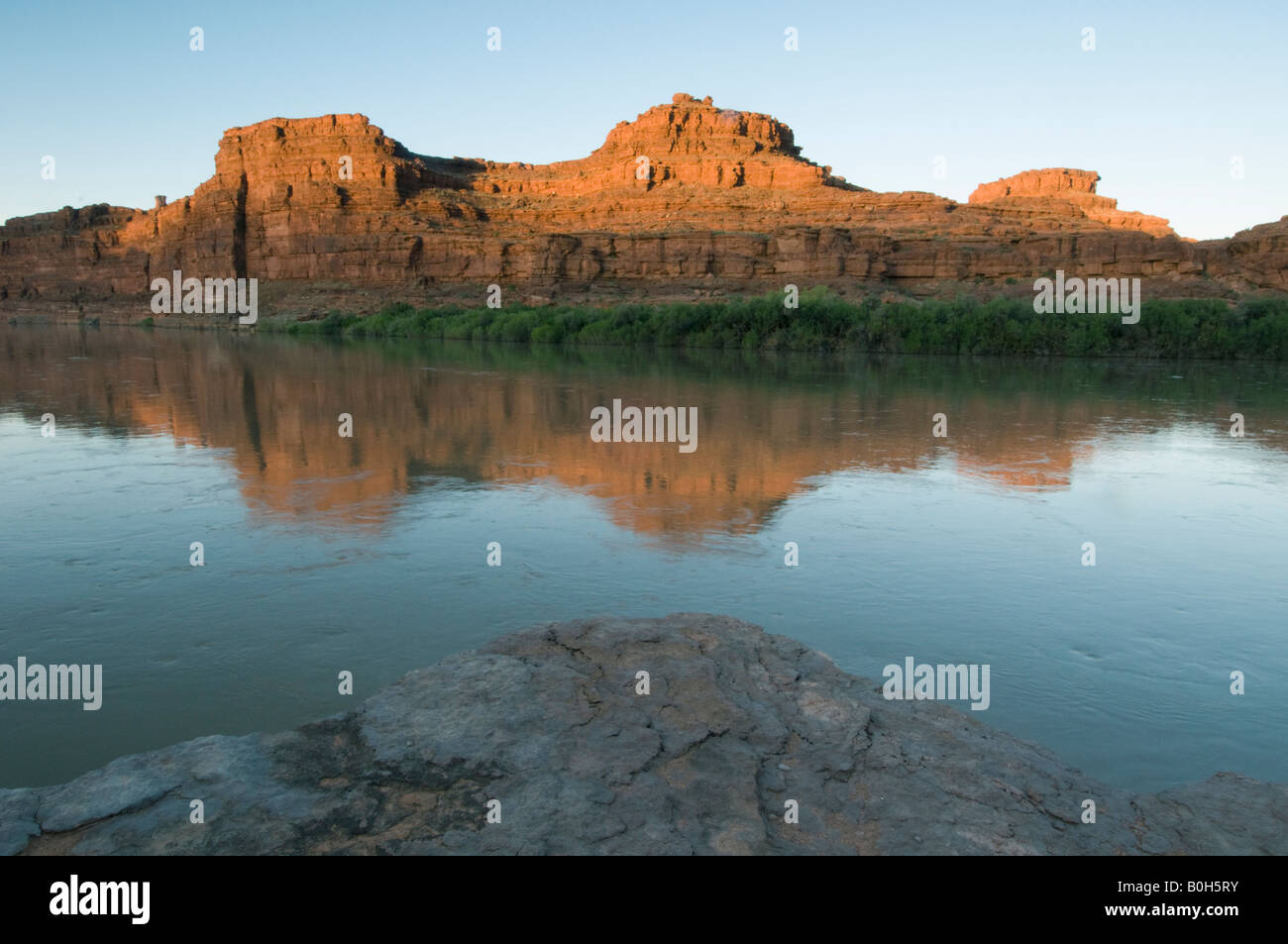Dawn, Canyonlands National Park, Meander Canyon, Colorado River, Utah - Stock Image
