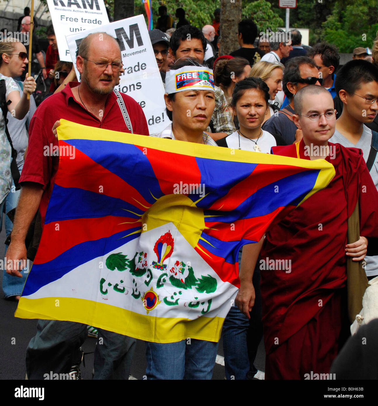 Demonstration Against New Zealands Free Trade Agreement With China