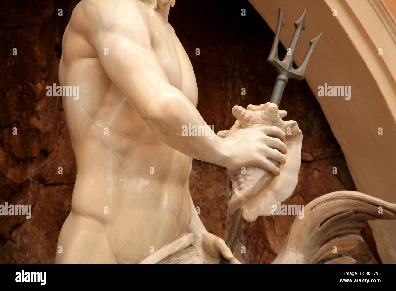 Italy at Epcot s World Showcase Neptune Statue. For Editorial use Only - Stock Image