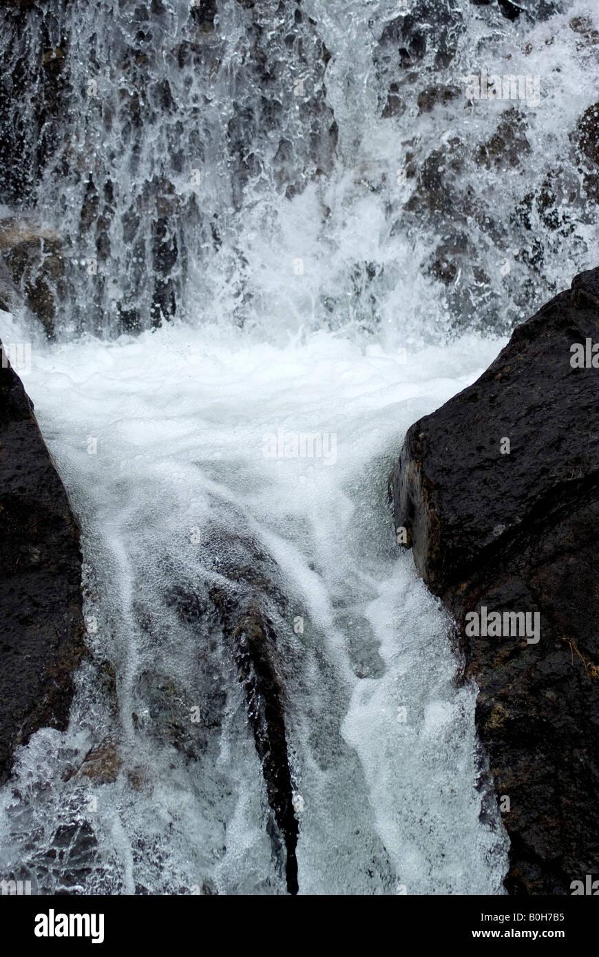 Between the rocks - Stock Image