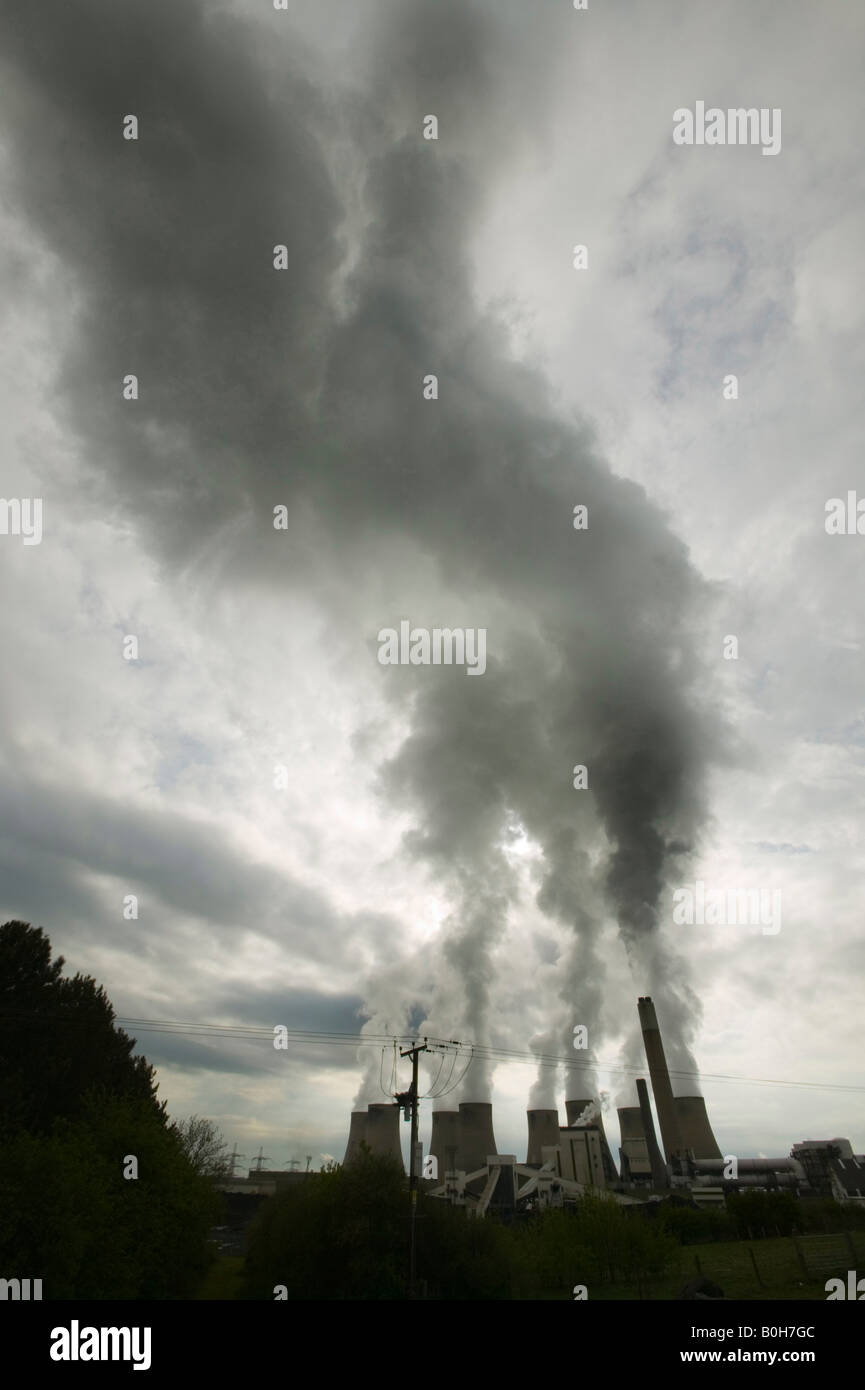 Ratcliffe on soar a coal fired power station in the UK - Stock Image
