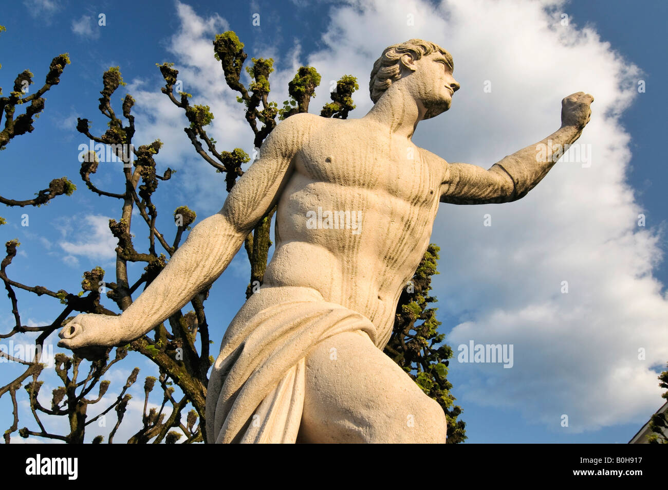 Sculpture by Ottavio Mosto, dated 1690, scene out of Greek mythology, Mirabellgarten Garden, Salzburg, Austria, - Stock Image