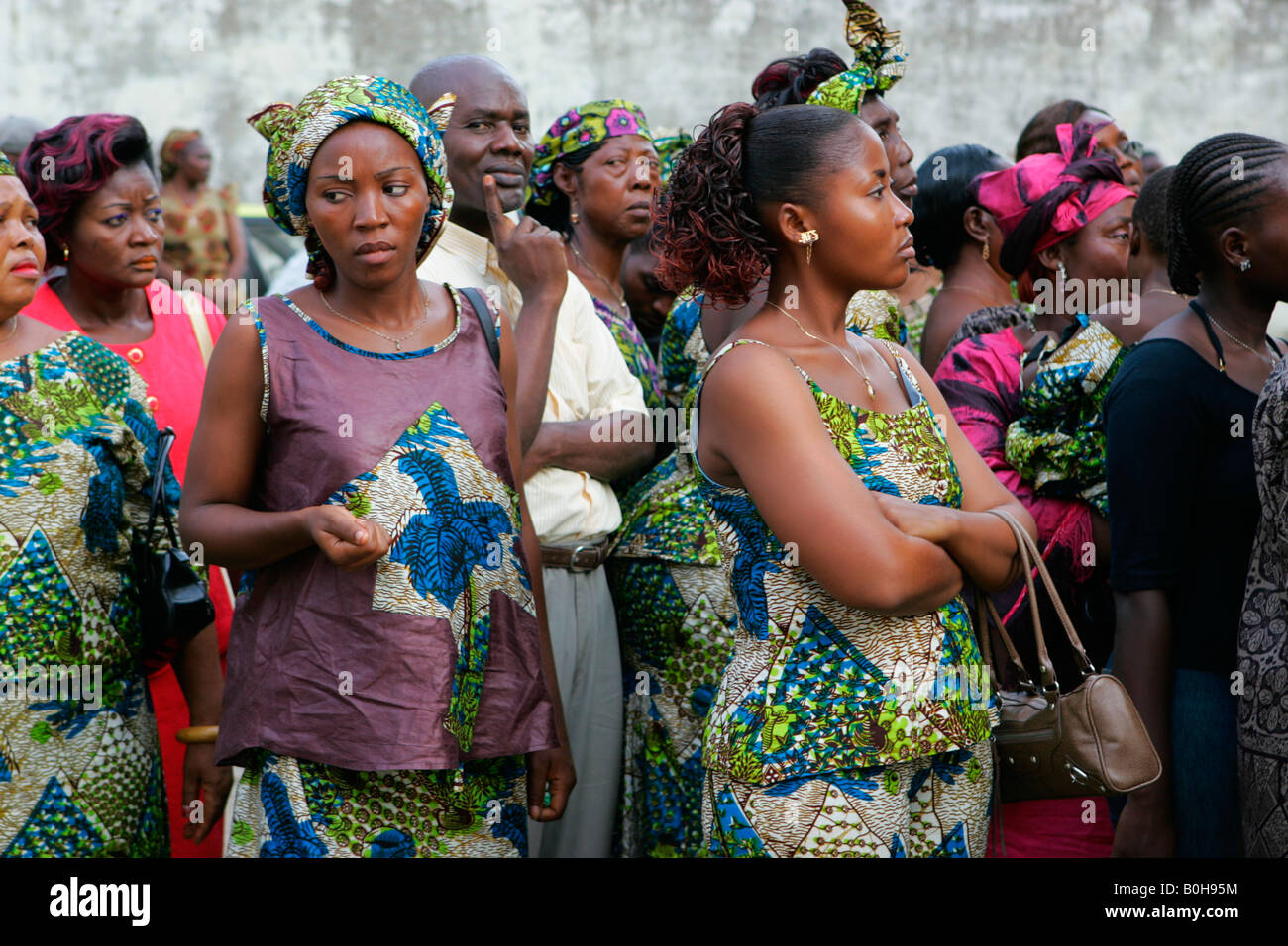 Wedding guests, Douala, Cameroon, Africa - Stock Image