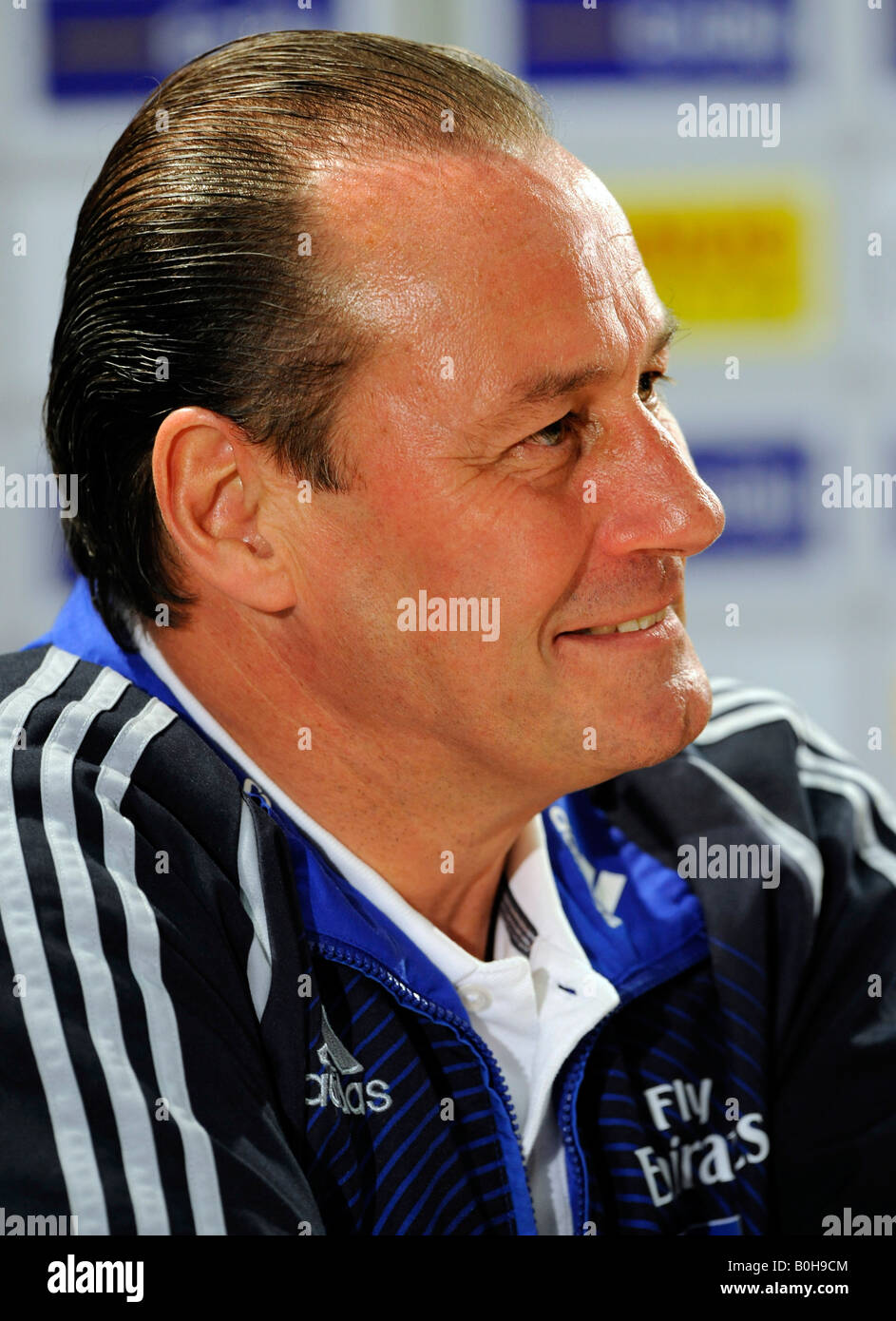 Coach Huub Stevens, Hamburger SV football club Stock Photo