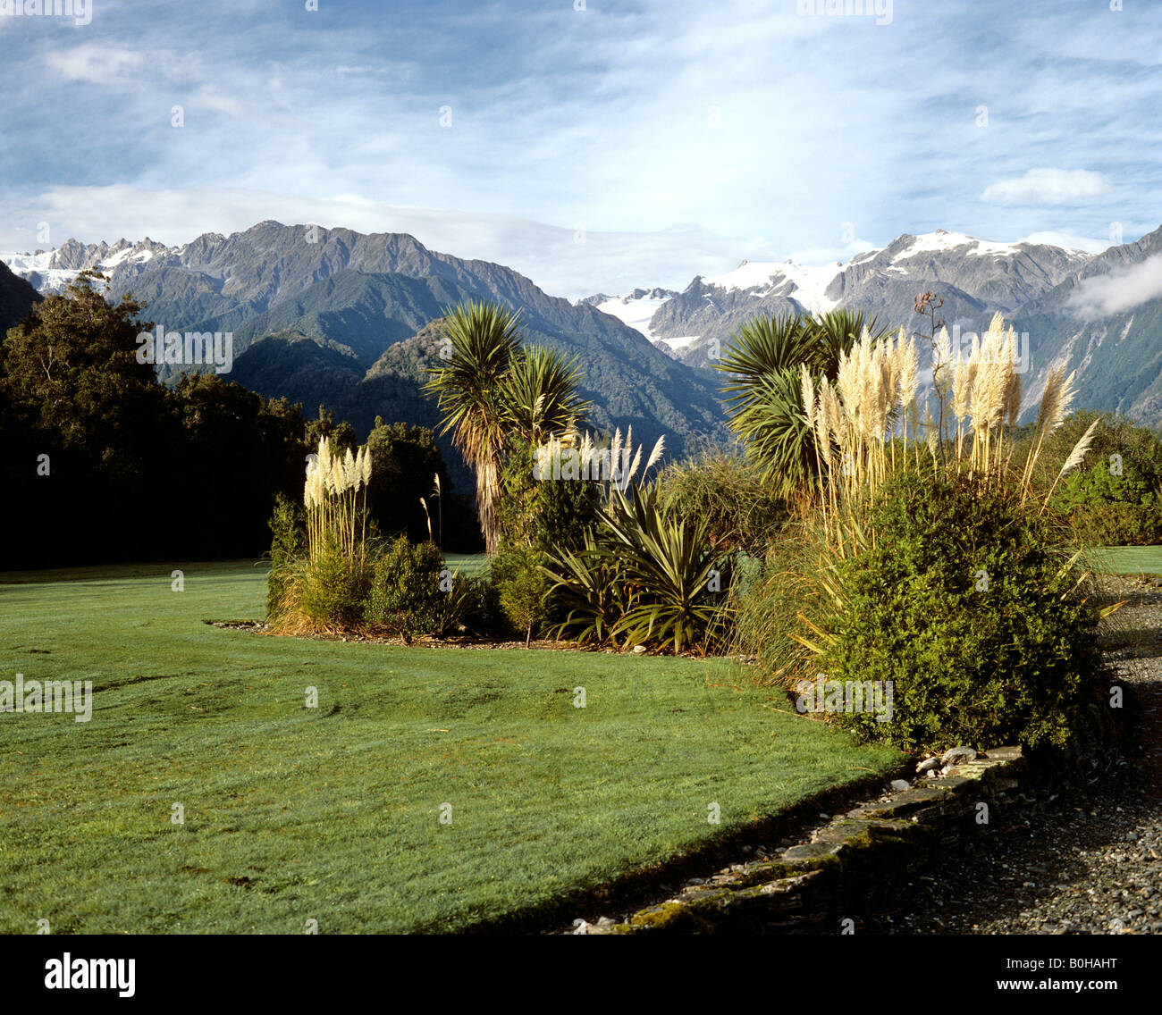 Landscape at the Franz Josef Glacier, South Island, New Zealand Stock Photo