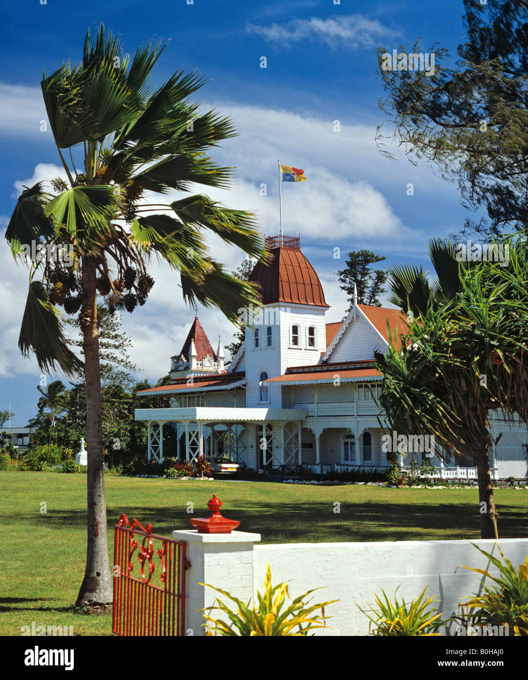 Royal Palace on Nuku Alofa, Tonga, South Pacific, Oceania - Stock Image