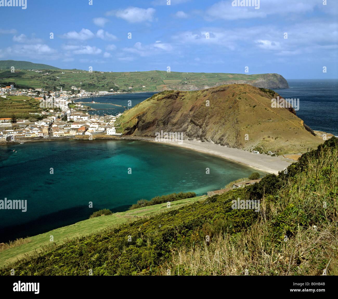 Horta on Faial Island, Azores, Portugal - Stock Image