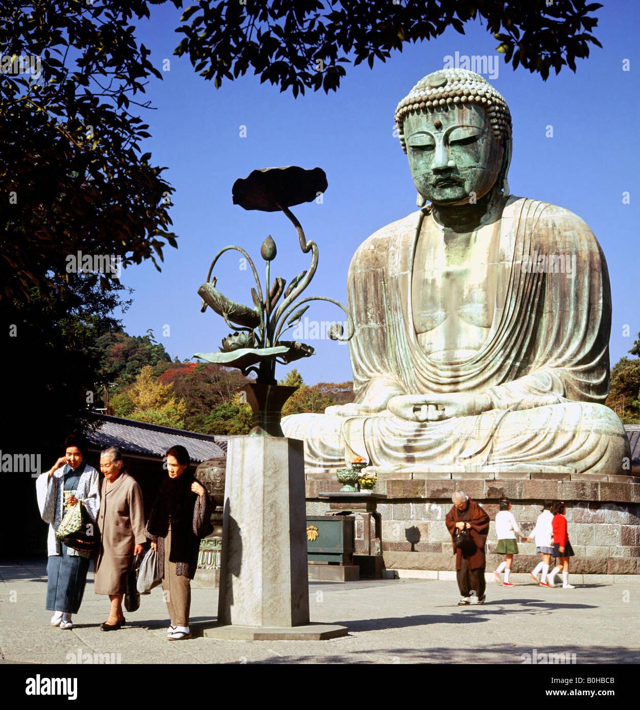 Amida Buddha in the Kōtoku-in Temple of Kamakura, Japan Stock Photo