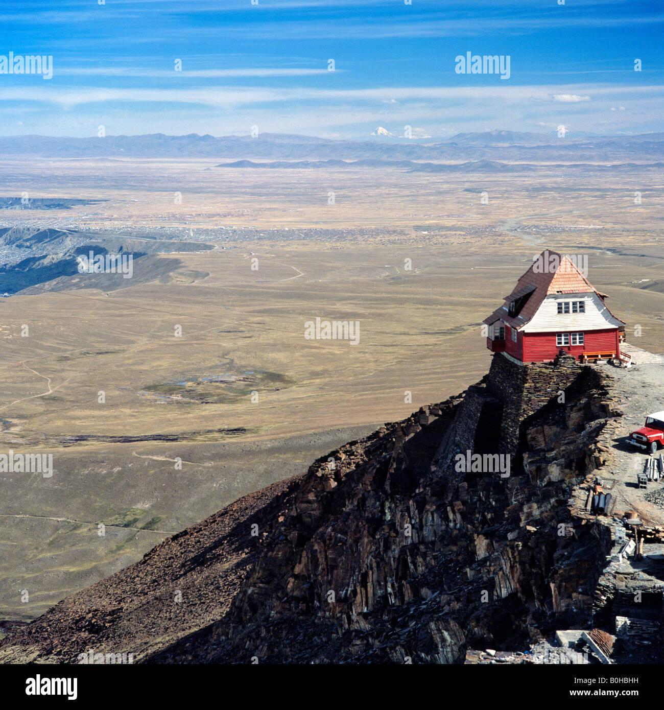 House on the Altiplano, high plateau near La Paz, Bolivia Stock Photo