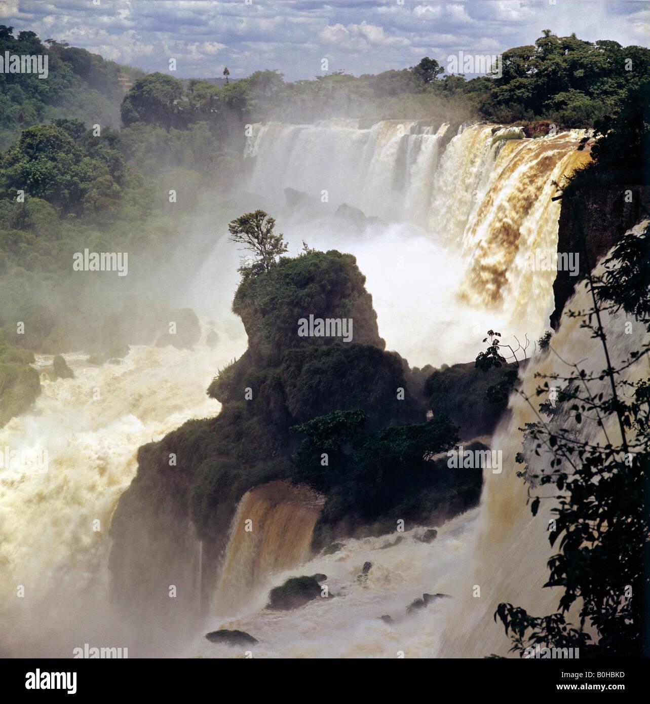 Iguazu Falls, UNESCO World Heritage Site, Argentina, South America - Stock Image