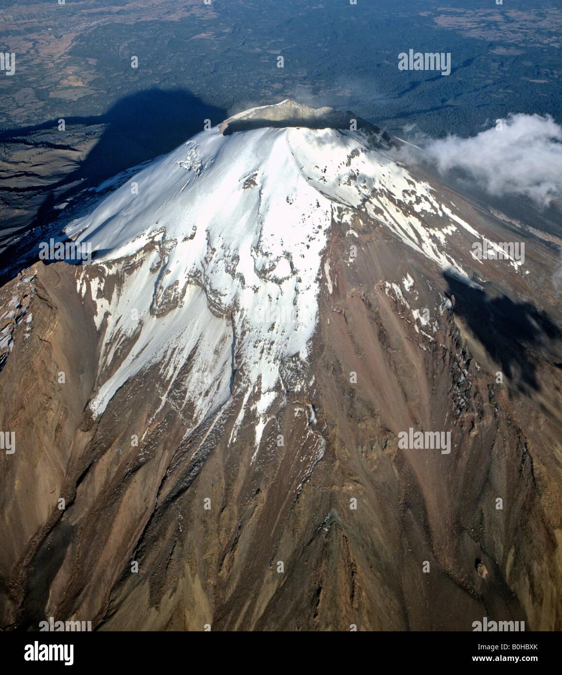 Popocatépetl Volcano, El Popo, Sierra Volcanica, Mexico, Central America - Stock Image