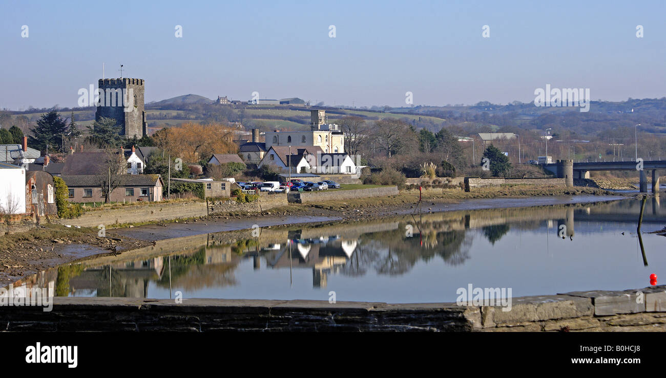 The Teifi estuary at Cardigan in West Wales - Stock Image