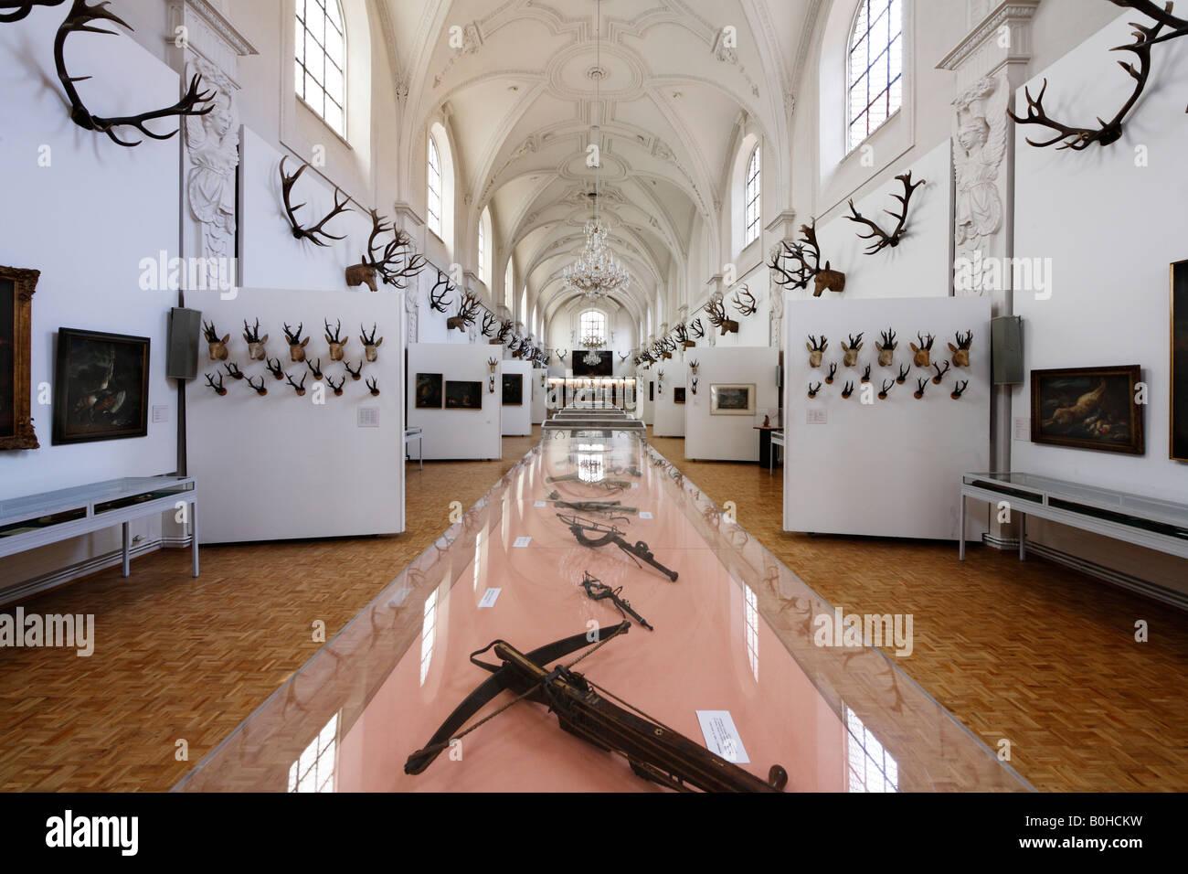 White Hall, Deutsches Jagd- und Fischereimuseum, German Hunting and Fishing Museum in the former Augustinerkirche - Stock Image