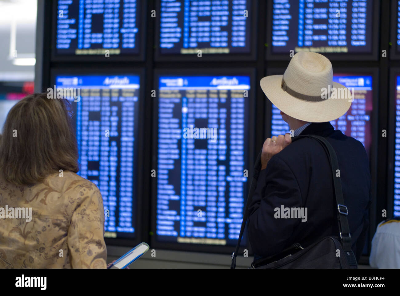 Airport Flight Information Screens Stock Photos Amp Airport
