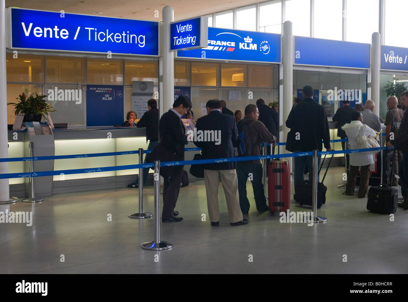 Ticketing, ticket counters, Charles de Gaulle International Airport, Paris, France, Europe - Stock Image
