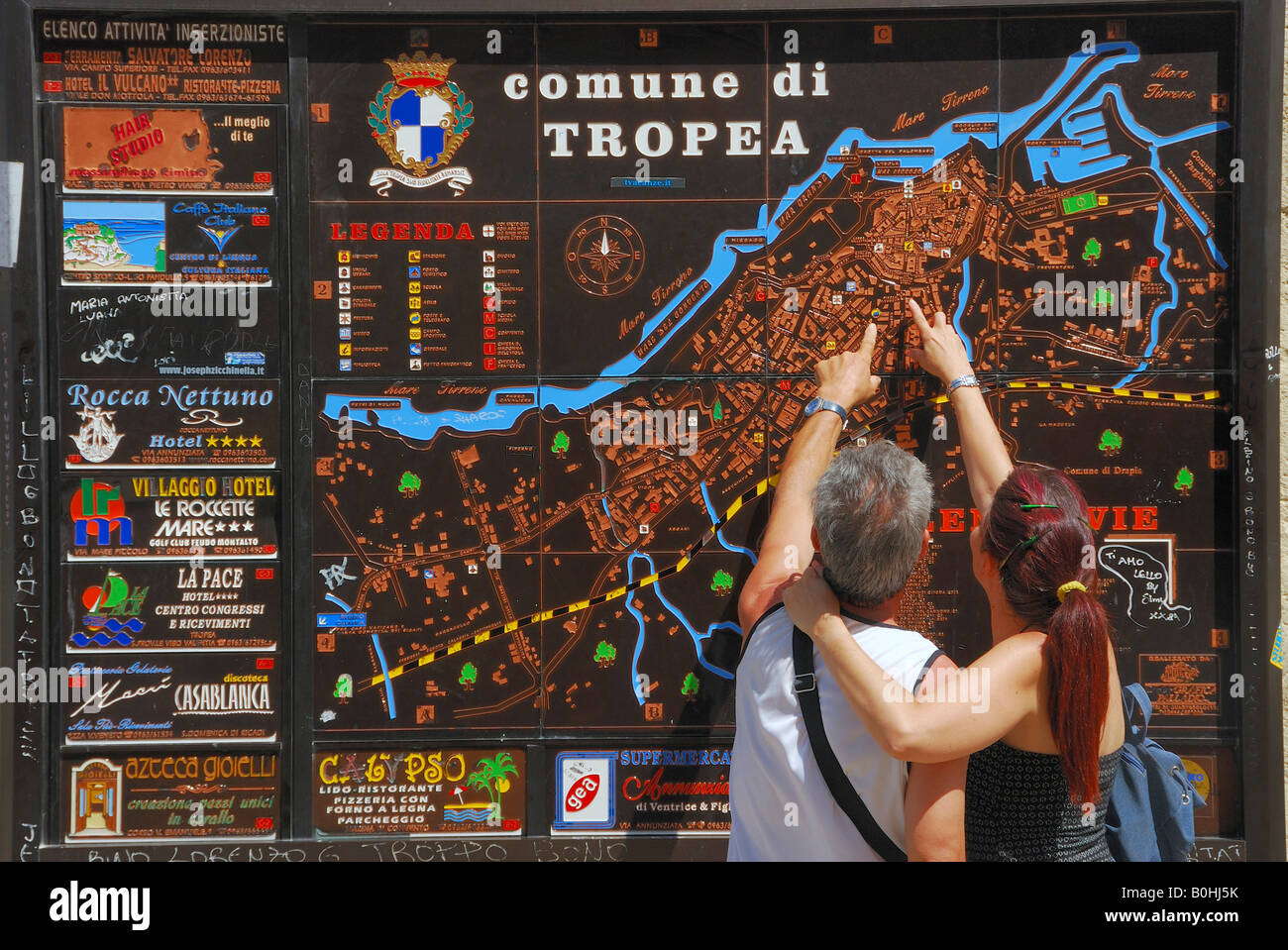 Tourist Information Information Board And Map Tropea Calabria