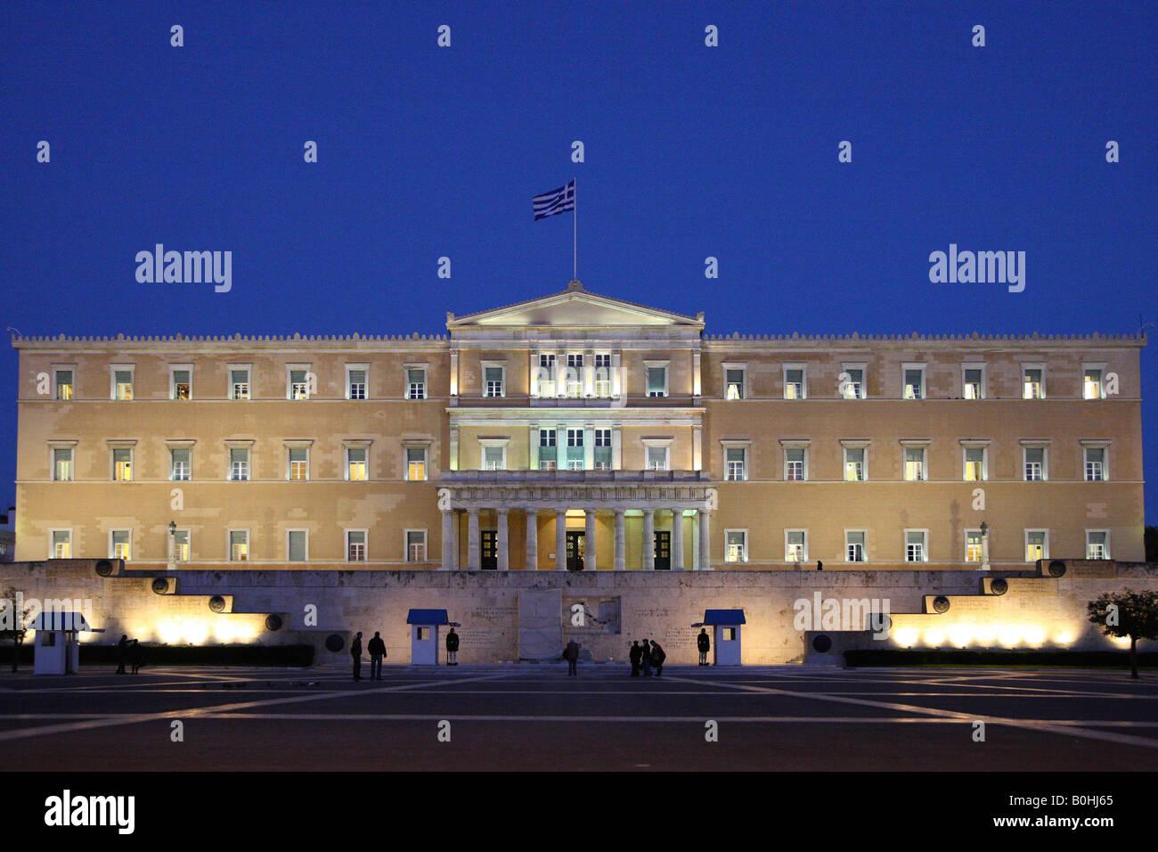 Greek Parliament, Athens, Greece - Stock Image