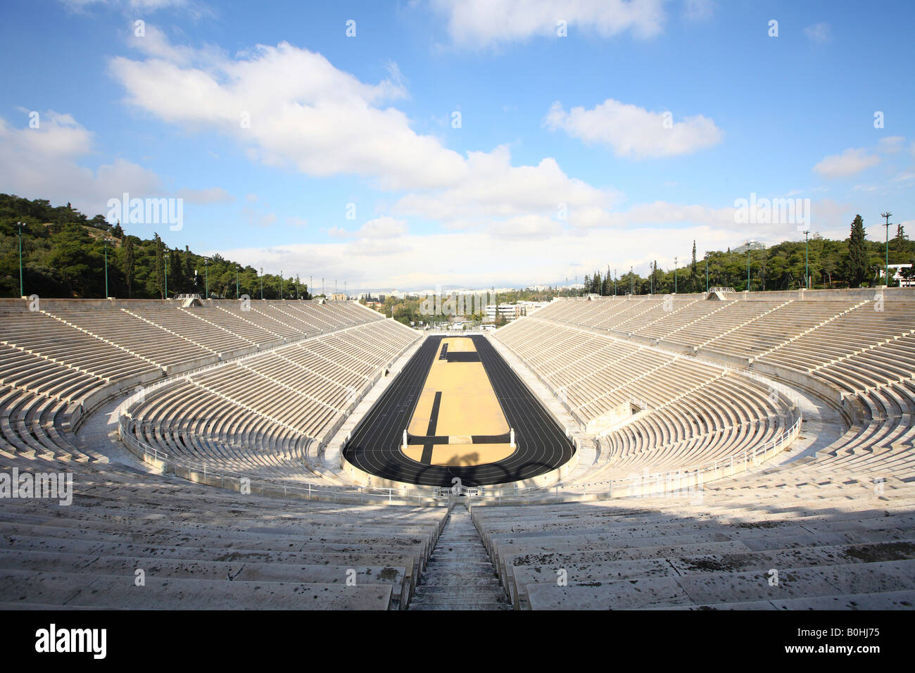 Panathinaikos, stadium of the first modern Olympic Games 1896, Athens, Greece - Stock Image