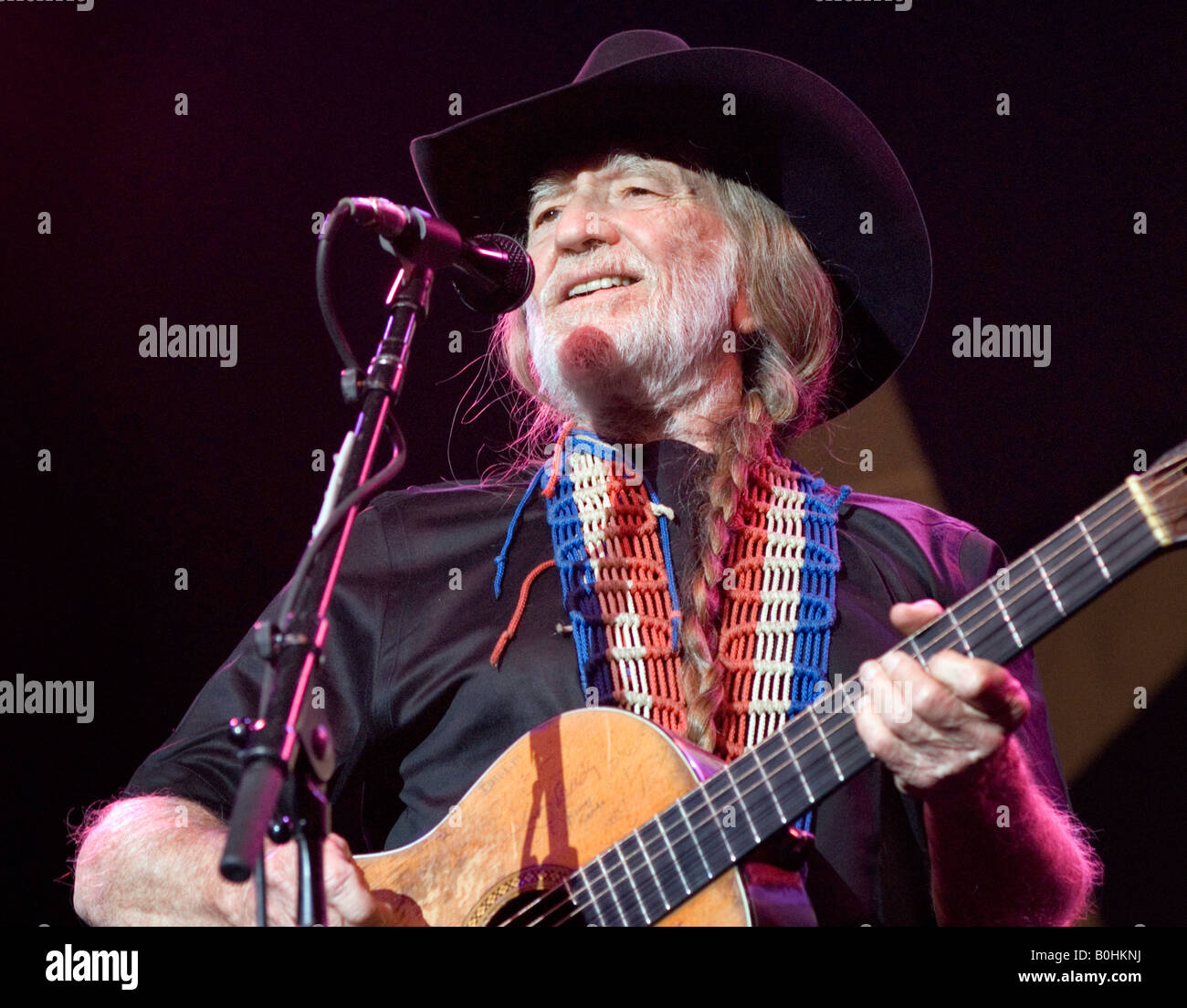 Willie Nelson performing at Wolverhampton, 12th May 2008 - Stock Image
